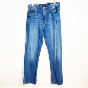 Luck Brand Blue Denim Jeans Long Inseam Size 33